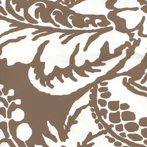 CP1040W-06 ANTOINETTE Cognac On White Quadrille Wallpaper