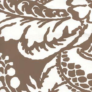 CP1040W-06 ANTOINETTE Cognac On White Quadrille Wallpaper