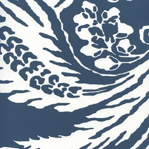 CP1040W-07 ANTOINETTE Navy On White Quadrille Wallpaper