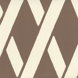 CP1050W-06 MONTECITO BAMBOO Cognac On Off White Quadrille Wallpaper
