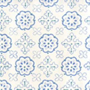 306306W CRAWFORD Multi Blues On Almost White Quadrille Wallpaper