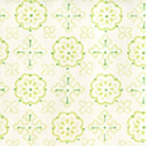 306303W CRAWFORD Multi Greens On Almost White Quadrille Wallpaper