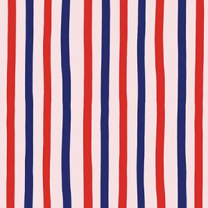 Clare V. Stripes Red Shell Wallpaper