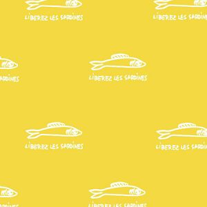Clare V. Sardines Yellow Wallpaper