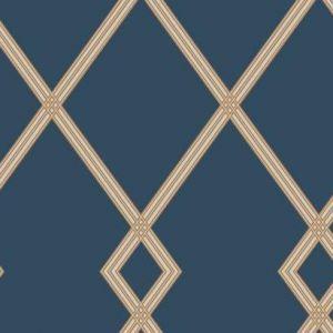 CY1506 Ribbon Stripe Trellis York Wallpaper