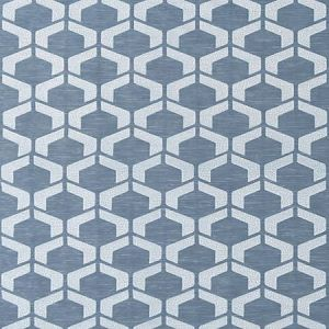 DB 0001 D297 CRAQUELE Blue Storm Scalamandre Fabric