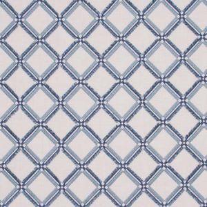 DIAMONDS WITHIN Cerulean Carole Fabric