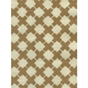 4125-02 DOUBLE CROSS ONE COLOR Camel II on Tint Quadrille Fabric