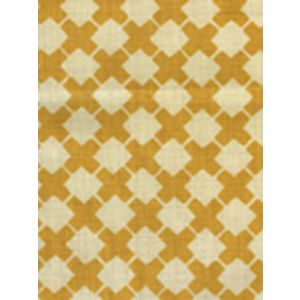 4125-03 DOUBLE CROSS ONE COLOR Inca Gold on Tint Quadrille Fabric