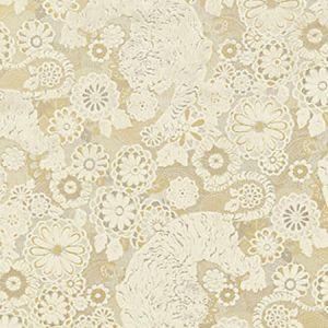 EA 000118V1 SIBERIAN TIGER White Tawny Old World Weavers Fabric