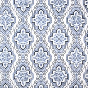 EARNED ADMIRATION Cobalt Carole Fabric