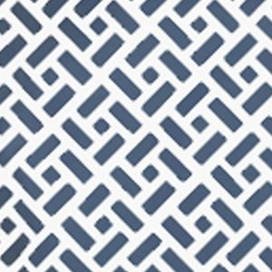 6990WP-19PV EDO Navy On White Vinyl Quadrille Wallpaper