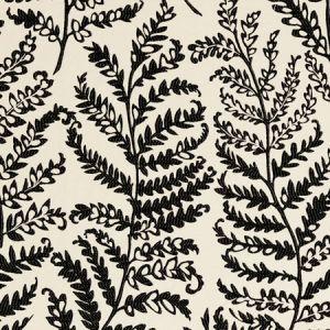 F0488/01 WILD FERN Charcoal Clarke & Clarke Fabric