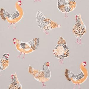 F0523/04 ROOSTER Taupe Clarke & Clarke Fabric