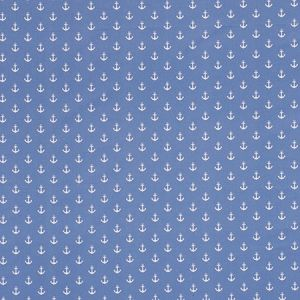 F0659/01 ANCHORS Blue Clarke & Clarke Fabric