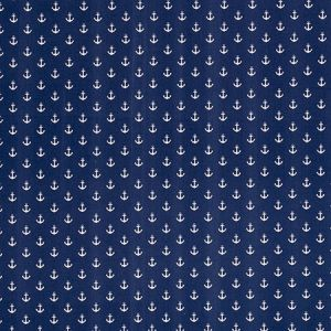 F0659/02 ANCHORS Navy Clarke & Clarke Fabric