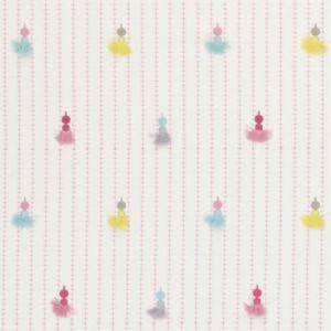 F0660/01 TASSELS Pink Clarke & Clarke Fabric