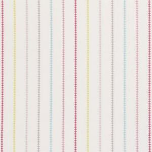 F0665/02 STITCH STRIPE Pink Clarke & Clarke Fabric