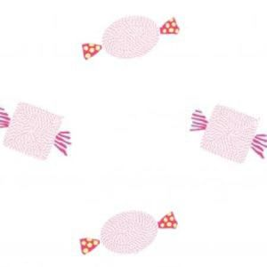 F0672/01 SWEETIES Pink Clarke & Clarke Fabric