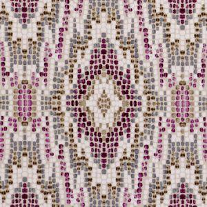 F0691/03 MOSAIC Damson Clarke & Clarke Fabric