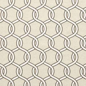 F0718/03 GAMA Charcoal Clarke & Clarke Fabric