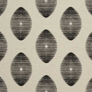 F0719/03 KINDU Charcoal Clarke & Clarke Fabric