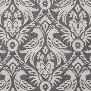 F0737/03 HAREWOOD Charcoal Clarke & Clarke Fabric