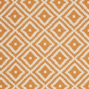 F0810/12 TAHOMA Pumpkin Clarke & Clarke Fabric