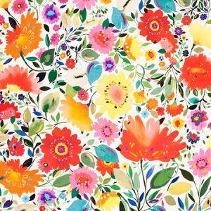F0813/01 ARIADNES DREAM LINEN Multi Clarke & Clarke Fabric
