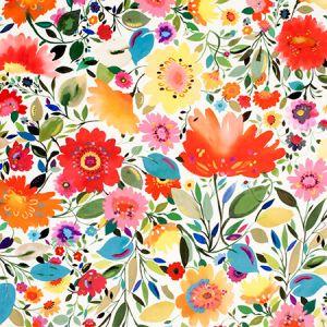 F0814/01 ARIADNES DREAM VELVET Multi Clarke & Clarke Fabric