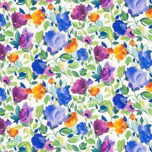 F0819/01 GISELLE LINEN Violet Clarke & Clarke Fabric