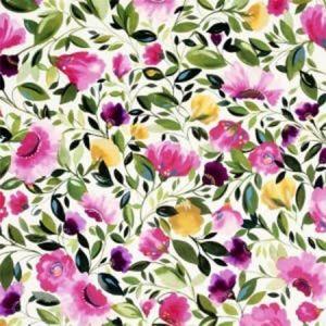 F0830/01 ROSINA VELVET Fuchsia Clarke & Clarke Fabric