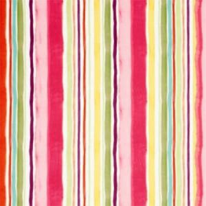 F0832/02 SUNRISE STRIPE VELVET Multi Clarke & Clarke Fabric