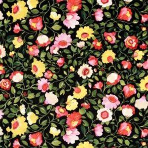 F0834/01 TATIANA VELVET Noir Clarke & Clarke Fabric