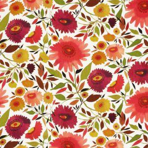 F0835/01 ZINNIAS LINEN Autumn Clarke & Clarke Fabric
