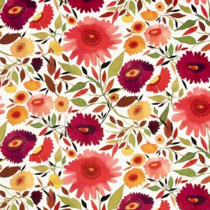 F0836/01 ZINNIAS VELVET Autumn Clarke & Clarke Fabric