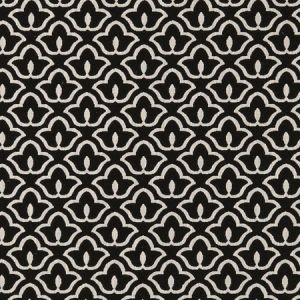 F0887/01 BW1014 Black White Clarke & Clarke Fabric