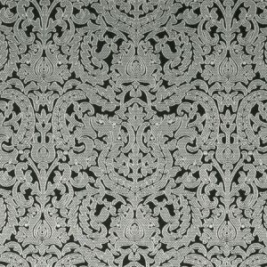 F0893/01 BW1020 Black White Clarke & Clarke Fabric