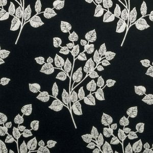 F0909/01 BW1036 Black White Clarke & Clarke Fabric