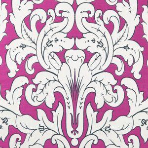 F0914/02 CHATEAU Fuchsia Clarke & Clarke Fabric