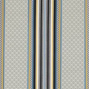 F0920/02 PARADISO Gold Aqua Clarke & Clarke Fabric