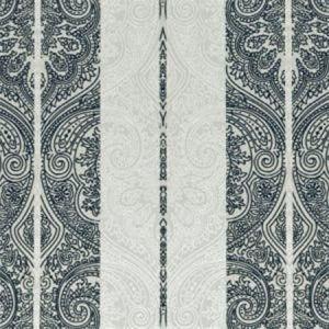 F0931/01 ROXANA Ebony Ivory Clarke & Clarke Fabric