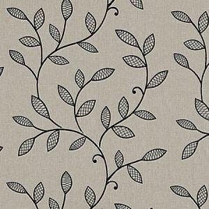 F0937/03 HETTON Charcoal Clarke & Clarke Fabric