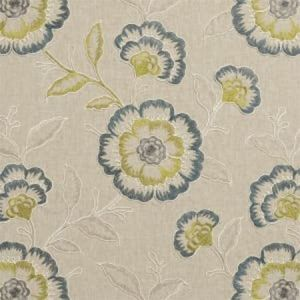 F0940/06 RICHMOND Teal Acacia Clarke & Clarke Fabric