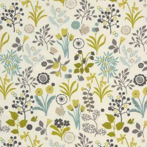 F0991/01 FRIDA Charteuse Charcoal Clarke & Clarke Fabric