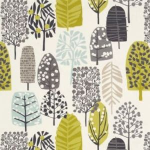F0992/01 TRAD Chartreuse Charcoal Clarke & Clarke Fabric