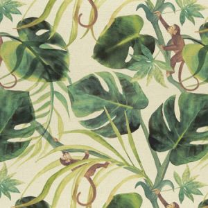F0998/03 MONKEY BUSINESS Natural Clarke & Clarke Fabric