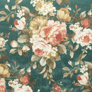 F1002/05 EMELINE Teal Clarke & Clarke Fabric