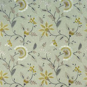 F1004/01 DELAMERE Chartreuse Clarke & Clarke Fabric