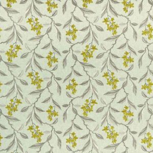 F1008/01 MELROSE Chartreuse Clarke & Clarke Fabric